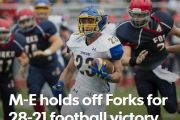 2015-PRESS-M-E HOLDS OFF FORKS FOR 28-21 FOOTBALL VICTORY